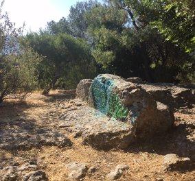 Αποκλειστικές φωτό: Κατέστρεψαν με ποδοσφαιρικά γκράφιτι και το Θεμιστόκλειο αρχαίο τείχος της Πνύκας - Κυρίως Φωτογραφία - Gallery - Video