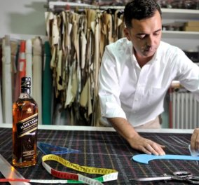 Made in Greece: Ύφασμα που μυρίζει Johnie Walker (!) από τον Έλληνα σχεδιαστή Άγγελο Μπράτη! - Κυρίως Φωτογραφία - Gallery - Video