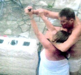 Καρέ - καρέ η προσπάθεια Βρετανίδας να σωθεί από την επίθεση με κουζινομάχαιρο του μεθυσμένου άντρα της! - Κυρίως Φωτογραφία - Gallery - Video