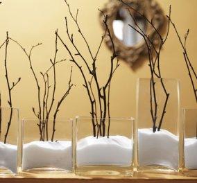 Όμορφες προτάσεις διακόσμησης για τα Χριστούγεννα - Πώς να αξιοποιήσετε τα ξερά κλαδιά του Χειμώνα! - Κυρίως Φωτογραφία - Gallery - Video
