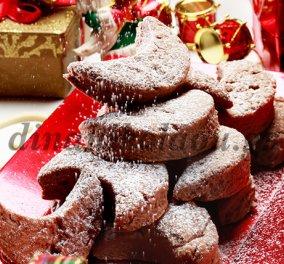 Πεντανόστιμοι κουραμπιέδες με σοκολάτα & φουντούκια από την Ντίνα Νικολάου!  - Κυρίως Φωτογραφία - Gallery - Video