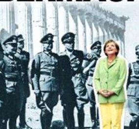 Το νέο εξώφυλλο του Spiegel: Η Μέρκελ με ναζί αξιωματικούς μπροστά στον Παρθενώνα! - Κυρίως Φωτογραφία - Gallery - Video