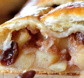 Για γλυκατζήδες: Η σεφ Ντίνα Νικολάου μας ετοιμάζει την πιο νόστιμη μηλόπιτα με χαλβά και ζύμη σοκολάτας! Μούρλια! - Κυρίως Φωτογραφία - Gallery - Video