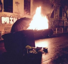 Eπεισόδια στους δρόμους γύρω από το Πολυτεχνείο από αντιεξουσιαστές - Φωτιές & υλικές ζημιές! (Φωτό - Βίντεο) - Κυρίως Φωτογραφία - Gallery - Video