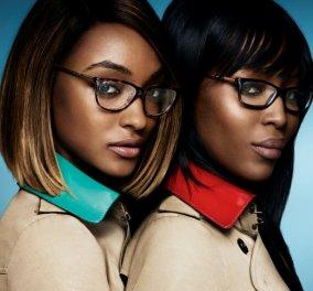 """Νέα γυαλιά λανσάρει με τα σούπερ μοντέλα Νaomi Campbell  & Jourdan Dunn η Burberry - Τίτλος: ''Τhe Gabardine Collection""""! (Φωτό)  - Κυρίως Φωτογραφία - Gallery - Video"""