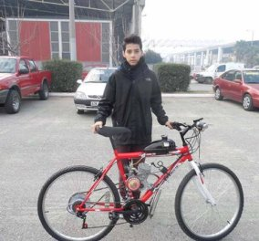 Μade in Greece ο Νίκος Μπαλαχούτης που μετατρέπει το παλιό σας ποδήλατο σε... μηχανάκι! Αυτό θα πει διορατικότητα! - Κυρίως Φωτογραφία - Gallery - Video