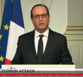 Δείτε σε live streaming την ομιλία του Φρανσουά Ολάντ για την τρομοκρατική επίθεση στα γραφεία της Charlie Hebdo - Κυρίως Φωτογραφία - Gallery - Video