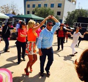 Ο Γιώργος και η glamorous Μαρίνα Πατούλη έσυραν τον χορό στο πασχαλινό γλέντι του Αμαρουσίου! (Φωτό) - Κυρίως Φωτογραφία - Gallery - Video