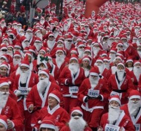 Good News: Η Αθήνα γεμίζει Άγιους Βασίληδες: Το 1ο Santa Run είναι γεγονός! - Κυρίως Φωτογραφία - Gallery - Video
