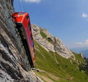 Ιδού το ξενοδοχείο με την πιο ''μαγική'' θέα στον κόσμο - Βρίσκεται στην Ελβετία & οι επισκέπτες του μεταφέρονται με σιδηρόδρομο - Κυρίως Φωτογραφία - Gallery - Video