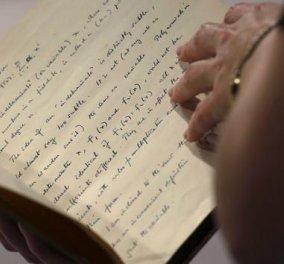 ΗΠΑ: Έναντι 1 εκατ. δολαρίων πουλήθηκε το σημειωματάριο του Αλαν Τούρινγκ! - Κυρίως Φωτογραφία - Gallery - Video