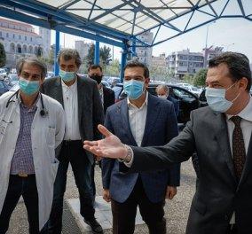 Ο Αλέξης Τσίπρας στο Αττικό Νοσοκομείο με Παύλο Πολάκη & Ανδρέα Ξανθό (φωτό - βίντεο) - Κυρίως Φωτογραφία - Gallery - Video