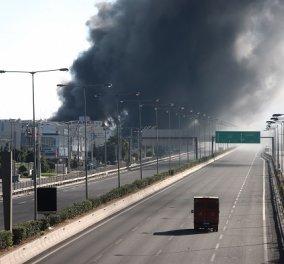 Για δεύτερη μέρα μαίνεται η πυρκαγιά στη Μεταμόρφωση- Σε ύφεση σήμερα- Τοξικό το νέφος στην περιοχή, προειδοποιούν οι ειδικοί (φωτό - βίντεο)  - Κυρίως Φωτογραφία - Gallery - Video