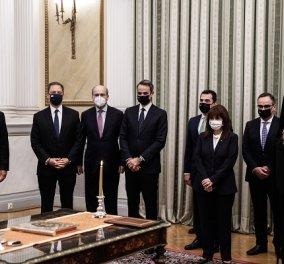 Καρέ καρέ όσα συνέβησαν στην Ορκωμοσία των νέων Υπουργών & Υφυπουργών της Κυβέρνησης (φωτό- βίντεο) - Κυρίως Φωτογραφία - Gallery - Video
