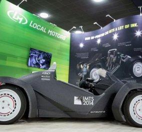 Strati: Το πρώτο τρισδιάστατα εκτυπωμένο ηλεκτρικό αυτοκίνητο - Αναμένεται να κυκλοφορήσει εντός του 2015! (βίντεο)  - Κυρίως Φωτογραφία - Gallery - Video