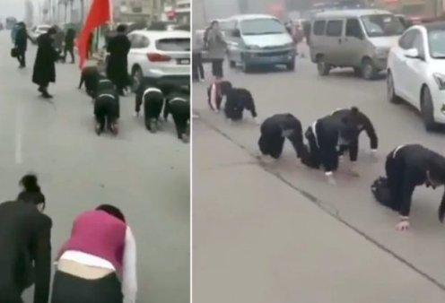 6 πωλητές σέρνονταν στα 4  στη μέση του δρόμου γιατί δεν έπιασαν τους στόχους τους & τιμωρήθηκαν! (βίντεο) - Κυρίως Φωτογραφία - Gallery - Video