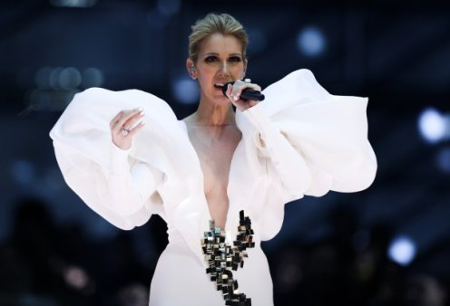 Υποκλινόμαστε στο γούστο της Céline Dion: Ποζάρει με μια neon τουαλέτα νεράιδας - λαχανί τούλι (φωτό) - Κυρίως Φωτογραφία - Gallery - Video