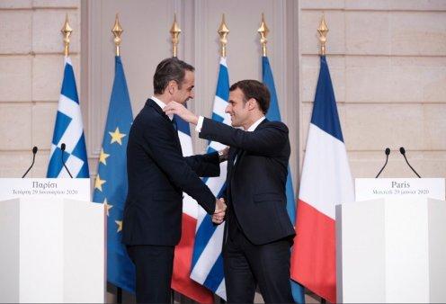 """""""Ελλάς - Γαλλία συμμαχία"""" : Κοινό μέτωπο Μητσοτάκη - Μακρόν έναντι της Τουρκίας - Συμφωνία σε όλα τα θέματα (φώτο-βίντεο) - Κυρίως Φωτογραφία - Gallery - Video"""