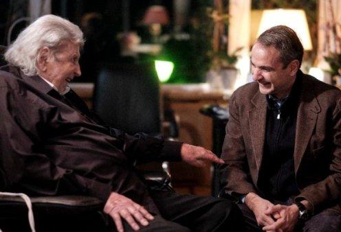 """""""Μια ζεστή απογευματινή συνάντηση με έναν μεγάλο Έλληνα"""": Όταν ο Κυρ. Μητσοτάκης επισκέφτηκε τον Μίκη Θεοδωράκη (φώτο) - Κυρίως Φωτογραφία - Gallery - Video"""