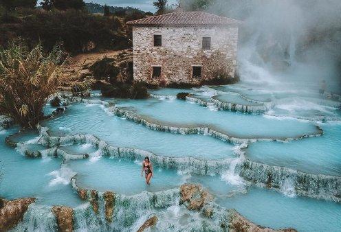 Τα απίστευτα λουτρά Terme di Saturnia στην Ιταλία! - Τι λέει ο μύθος για τις πηγές (βίντεο) - Κυρίως Φωτογραφία - Gallery - Video