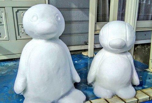 Ιάπωνας καλλιτέχνης φτιάχνει απίθανα γλυπτά από χιόνι: Σμιλεύει τις φιγούρες του Godzilla και των Minions (φωτό) - Κυρίως Φωτογραφία - Gallery - Video