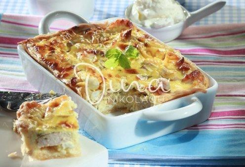 Ντίνα Νικολάου: Λαχταριστή τάρτα με κοτόπουλο και φέτα - Ένα πιάτο για όλη την οικογένεια - Κυρίως Φωτογραφία - Gallery - Video