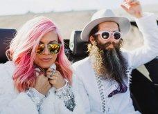 Smile: Ο πιο τρελός γάμος όλων των εποχών - Η νύφη με το ροζ μαλλί, τις παγέτες, τα all star και το απίθανο πάρτι! - Κυρίως Φωτογραφία - Gallery - Video 2