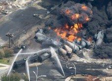 Κόλαση πυρός στην Βιρτζίνια: Εξερράγησαν τρένα φορτωμένα πετρέλαιο, εκκενώθηκαν 2 ολόκληρες πόλεις! (φωτό - βίντεο) - Κυρίως Φωτογραφία - Gallery - Video 3