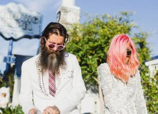 Smile: Ο πιο τρελός γάμος όλων των εποχών - Η νύφη με το ροζ μαλλί, τις παγέτες, τα all star και το απίθανο πάρτι! - Κυρίως Φωτογραφία - Gallery - Video 4