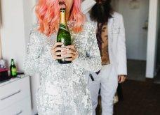 Smile: Ο πιο τρελός γάμος όλων των εποχών - Η νύφη με το ροζ μαλλί, τις παγέτες, τα all star και το απίθανο πάρτι! - Κυρίως Φωτογραφία - Gallery - Video 6
