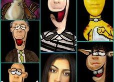 Η Ελληνίδα make up artist Ηλιάννα Βαλσαμάκη παίρνει έμπνευση από τον Αρκά και μεταμορφώνεται σε σκίτσα του - Κυρίως Φωτογραφία - Gallery - Video