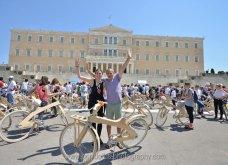 Good News: Με ξύλινα ποδήλατα γέμισε η Αθήνα - Δείτε φωτό από την ποδηλατοδρομία - Κυρίως Φωτογραφία - Gallery - Video 2