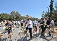 Good News: Με ξύλινα ποδήλατα γέμισε η Αθήνα - Δείτε φωτό από την ποδηλατοδρομία - Κυρίως Φωτογραφία - Gallery - Video 7