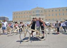 Good News: Με ξύλινα ποδήλατα γέμισε η Αθήνα - Δείτε φωτό από την ποδηλατοδρομία - Κυρίως Φωτογραφία - Gallery - Video