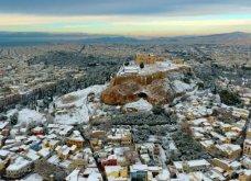 Το χιόνι έντυσε στα λευκά όλη την Αττική (φωτό) - Δείτε πού υπάρχουν προβλήματα στους δρόμους - Κυρίως Φωτογραφία - Gallery - Video