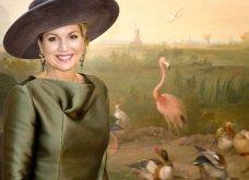 Όταν η Βασίλισσα Μάξιμα της Ολλανδίας ντύθηκε... παράδεισος των πτηνών με καπελίνο & γάντια ασορτί  - Κυρίως Φωτογραφία - Gallery - Video