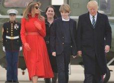 Τα κόκκινα γάντια & το παλτό - φωτιά της Μελάνια επισκίασαν ακόμη και τον γιο Μπάρον που ξαφνικά ψήλωσε (Φωτό-Βίντεο) - Κυρίως Φωτογραφία - Gallery - Video