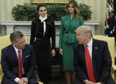 Η ωραιότερη γυναίκα της Αμερικής συναντά την καλλονή της Δύσης - Ράνια της Ιορδανίας και Μελάνια Τραμπ στο Λευκό Οίκο (Φωτό) - Κυρίως Φωτογραφία - Gallery - Video