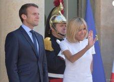 Μπριτζίτ Μακρόν: Η πιο σικ πρώτη κυρία της Γαλλίας ακόμη και με το πιο απλό λευκό φουστάνι - Κυρίως Φωτογραφία - Gallery - Video