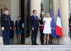 Μπριτζίτ Μακρόν: Η πιο σικ πρώτη κυρία της Γαλλίας ακόμη και με το πιο απλό λευκό φουστάνι - Κυρίως Φωτογραφία - Gallery - Video 4