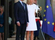 Μπριτζίτ Μακρόν: Η πιο σικ πρώτη κυρία της Γαλλίας ακόμη και με το πιο απλό λευκό φουστάνι - Κυρίως Φωτογραφία - Gallery - Video 8