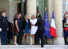 Μπριτζίτ Μακρόν: Η πιο σικ πρώτη κυρία της Γαλλίας ακόμη και με το πιο απλό λευκό φουστάνι - Κυρίως Φωτογραφία - Gallery - Video 9
