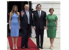 Εντυπωσιακή η Μελάνια: Με γαλάζιο φόρεμα και φλοράλ γόβες υποδέχτηκε τον Πρόεδρο & την Πρώτη Κυρία του Παναμά - Κυρίως Φωτογραφία - Gallery - Video