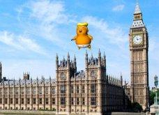 Γνωρίστε τον «φουσκωτό» Ντόναλντ Τραμπ μεγάλο, θυμωμένο μωρό με εύθραυστο «εγώ» και μικροσκοπικά χέρια - Πετάει πάνω από το Λονδίνο (Φωτό & Βίντεο) - Κυρίως Φωτογραφία - Gallery - Video