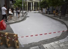 Good news: Αυτός είναι ο πρώτος «λευκός» δρόμος της Αθήνας - Μειώνει τη θερμοκρασία και βελτιώνει το κλίμα! - Κυρίως Φωτογραφία - Gallery - Video