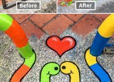 Ένας υπέροχος street artist μεταμορφώνει μουντά σημεία της πόλης σε πραγματικά έργα τέχνης όλο χρώμα & ζωή (ΦΩΤΟ) - Κυρίως Φωτογραφία - Gallery - Video 9