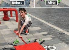 Ένας υπέροχος street artist μεταμορφώνει μουντά σημεία της πόλης σε πραγματικά έργα τέχνης όλο χρώμα & ζωή (ΦΩΤΟ) - Κυρίως Φωτογραφία - Gallery - Video 10