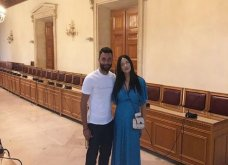 O ποδοσφαιριστής  Γιώργος Τζαβέλλας παντρεύτηκε την Κρητικιά αγαπημένη του Αθηνά στο Ηράκλειο (φωτο) - Κυρίως Φωτογραφία - Gallery - Video