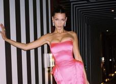 H Μπέλα Χαντίντ με συγκλονιστική ροζ τουαλέτα του Ζαν-Πολ Γκοτιέ -  Αναδεικνύεται σε βασίλισσα της πασαρέλας - Κυρίως Φωτογραφία - Gallery - Video