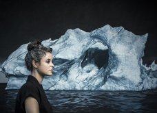Η Ζάρια Φόρμαν μάς κρούει των κώδωνα του κινδύνου για την κλιματική αλλαγή: Ζωγραφίζει παγετώνες που λιώνουν (Βίντεο) - Κυρίως Φωτογραφία - Gallery - Video